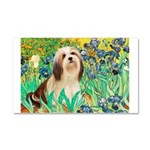Irises / Lhasa Apso #4 Car Magnet 20 x 12