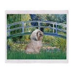 Bridge / Lhasa Apso Throw Blanket