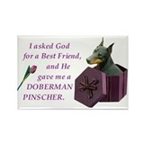 Cute Doberman Rectangle Magnet