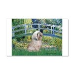 Bridge / Lhasa Apso Car Magnet 20 x 12