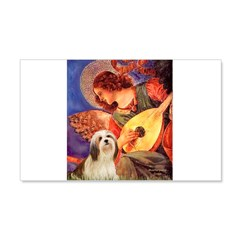 Mandolin / Lhasa Apso #4 20x12 Wall Decal