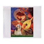 Mandolin / Lhasa Apso #4 Throw Blanket