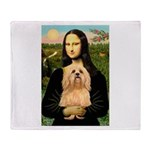 Mona / Lhasa Apso #9 Throw Blanket