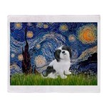 Starry / Lhasa Apso #2 Throw Blanket
