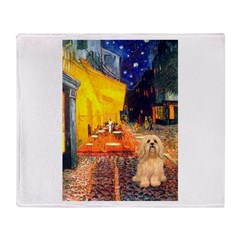 Cafe / Lhasa Apso #9 Throw Blanket