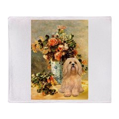 Vase / Lhasa Apso #9 Throw Blanket