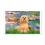 Lilies / Lhasa Apso #9 20x12 Wall Decal