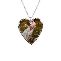 Windflowers / Lhasa Apso #4 Necklace Heart Charm