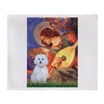 Mandolin Angel / Maltese (B) Throw Blanket