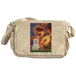 Mandolin Angel / Maltese (B) Messenger Bag