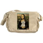 Mona Lisa / Maltese (B) Messenger Bag