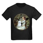 Ophelia #1 / Maltese (B) Kids Dark T-Shirt