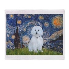 Starry / Maltese (B) Throw Blanket