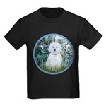 Lilies #1 - Maltese (B) Kids Dark T-Shirt