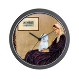 Whistlers Mom / Maltese (B) Wall Clock