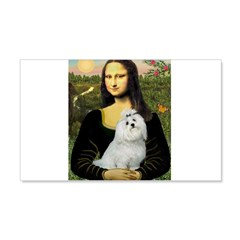 Mona Lisa / Maltese 20x12 Wall Decal