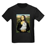 Mona Lisa / Maltese Kids Dark T-Shirt