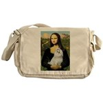 Mona Lisa / Maltese Messenger Bag