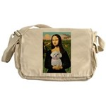 Mona's Maltese (R) Messenger Bag