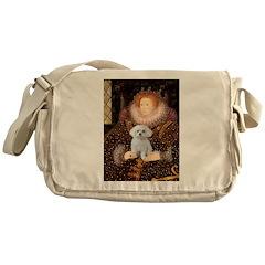 The Queen's Maltese Messenger Bag