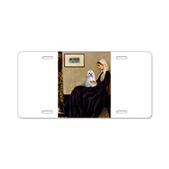 Whistler's Mother Maltese Aluminum License Plate