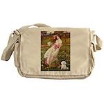 Windflowers / Maltese Messenger Bag