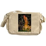 Fairies & Newfoundland Messenger Bag
