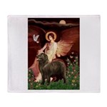Angel & Newfoundland (B2S) Throw Blanket