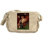 Angel & Newfoundland Messenger Bag