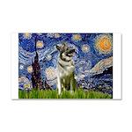 Starry / Nor Elkhound Car Magnet 20 x 12