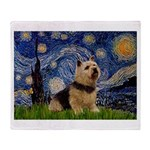 Starry /Norwich Terrier Throw Blanket