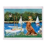 Sailboats / Nova Scotia Throw Blanket
