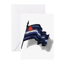 WAVING LEATHER PRIDE W/SHADOW Greeting Cards10PK