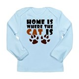 'Where The Cat Is' Long Sleeve Infant T-Shirt