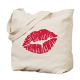 Kiss red lips Tote Bag