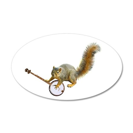 Sqiurrel with Banjo 22x14 Oval Wall Peel