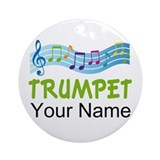 Trumpet Music Personalized Gift Ornament