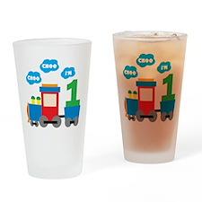 Train 1st Birthday Drinking Glass