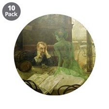 "Absinthe Drinker 3.5"" Button (10 pack)"