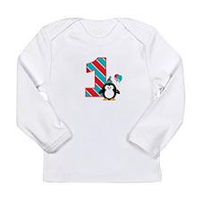 Penguin 1st Birthday Long Sleeve Infant T-Shirt