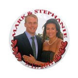 Stephanie engagement Ornament (Round)