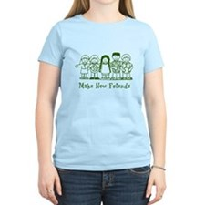 Make New Friends (green) T-Shirt