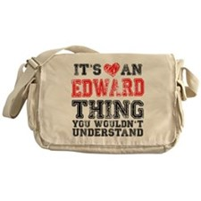 Red Edward Thing Messenger Bag