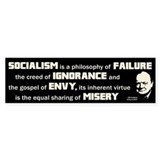 Churchill Socialism Quote Car Sticker