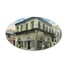 Vintage Bourbon St. Absinthe 38.5 x 24.5 Oval Wall