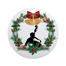 String Bass Music Christmas Ornament