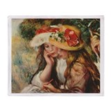 Young Artists, Renoir Throw Blanket