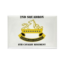 DUI - 2nd Sqdrn - 8th Cavalry Regt with Text Recta