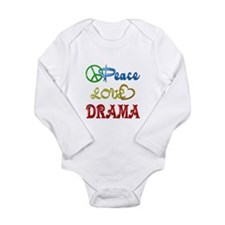Peace Love Drama Long Sleeve Infant Bodysuit