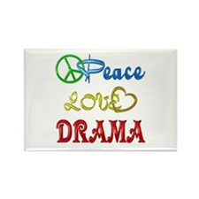 Peace Love Drama Rectangle Magnet (10 pack)